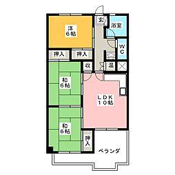 緑園第1サンコーポ[8階]の間取り