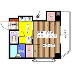 T・UビルII[3A号室]の間取り