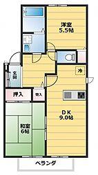 エストステーブルA棟[2階]の間取り