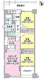 ディークラウディア横浜エステシア[9階]の間取り