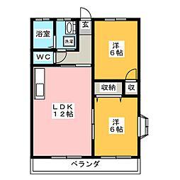 リバーサイドpearl 2[2階]の間取り
