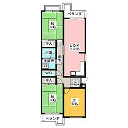 ルミエール覚王山A6[3階]の間取り