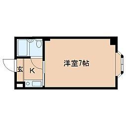 奈良県大和高田市西三倉堂2丁目の賃貸マンションの間取り
