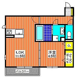 WISTERIA  PLACE  E・B・R[203号室]の間取り