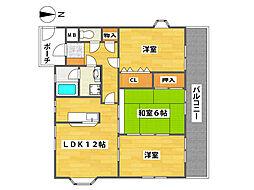 コージハイツ恵門[1階]の間取り