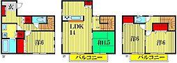 [一戸建] 東京都葛飾区新宿3丁目 の賃貸【東京都 / 葛飾区】の間取り