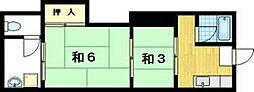 中井荘[1階]の間取り