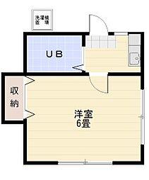 若葉富士見アパート[105号室]の間取り