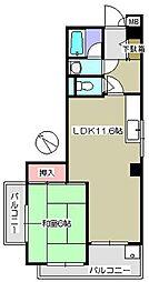 メゾンチェリーアヴェニュー 201[2階]の間取り