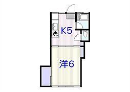 堀ハウス(K09045366813)[102号室]の間取り