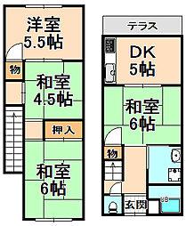 [テラスハウス] 兵庫県伊丹市若菱町6丁目 の賃貸【兵庫県 / 伊丹市】の間取り