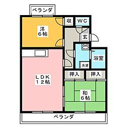 アイリス和志山[4階]の間取り