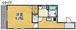 ソレイユ聖天下C[1階]の間取り