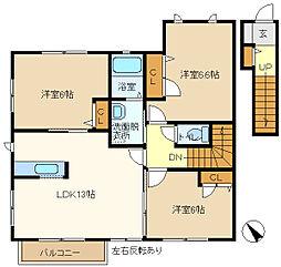 エヴァ グラシアスB[2階]の間取り