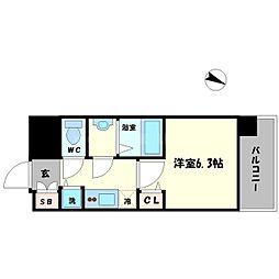 アドバンス大阪ドーム前アヴェニール[8階]の間取り