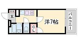 兵庫県神戸市兵庫区駅南通2丁目の賃貸アパートの間取り