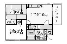 夙川プラザガーデン[1階]の間取り