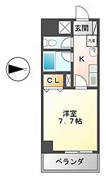 Belle Vivre新栄[4階]の間取り
