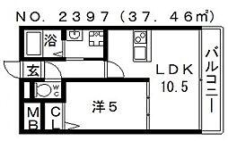 シュテルン ハイム[2階]の間取り