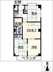リヒテン山崎[3階]の間取り