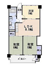六会駅前高層住宅[512号室号室]の間取り