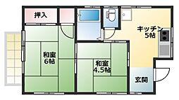 吉本アパート[201号室]の間取り