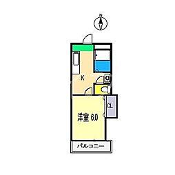 コーポあゆみ[3階]の間取り