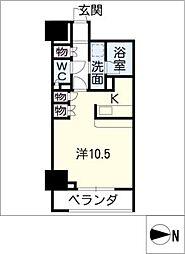 カスタリア栄[10階]の間取り