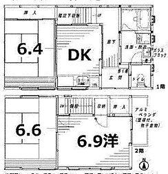[一戸建] 京都府京都市中京区瓦之町 の賃貸【/】の間取り