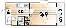 サクシード浅川[501号室]の間取り