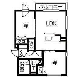レーベルシャトーS11[5階]の間取り