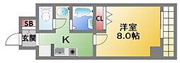ビークル長堀[6階]の間取り