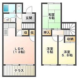 [タウンハウス] 兵庫県神戸市西区北別府3丁目 の賃貸【/】の間取り