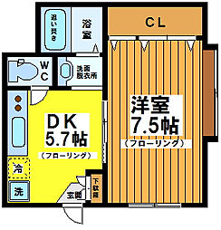 東京都杉並区和泉4丁目の賃貸アパートの間取り