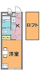 レオパレスHARASHIMA[1階]の間取り
