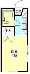 グレース秋桜[105号室]の間取り
