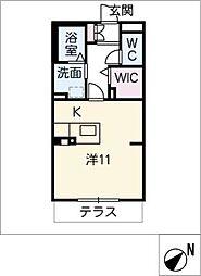 エクセルヤマナカII[1階]の間取り
