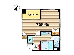 東京都大田区久が原4丁目の賃貸マンションの間取り