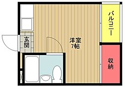 サンクレイドル[5階]の間取り