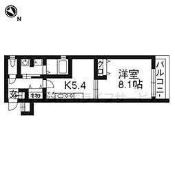 ベラジオ京都鴨川II 302号室[3階]の間取り