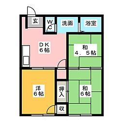 シティハイツイワタ[1階]の間取り