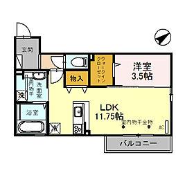 (仮)D-room四十万町[202号室]の間取り