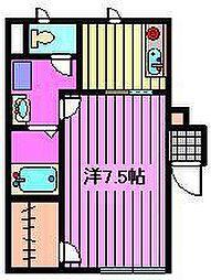 メゾンクローバー[102号室]の間取り