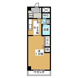 セントラル参番館[2階]の間取り