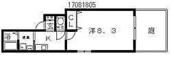 大阪府大阪市東住吉区住道矢田9丁目の賃貸アパートの間取り