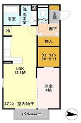 埼玉県さいたま市中央区八王子3丁目の賃貸アパートの間取り