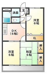 エスペラント・コダマ[1階]の間取り