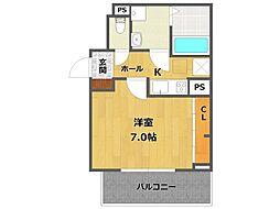 兵庫県伊丹市桜ケ丘3丁目の賃貸アパートの間取り