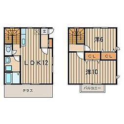 [テラスハウス] 神奈川県海老名市国分南3丁目 の賃貸【神奈川県 / 海老名市】の間取り