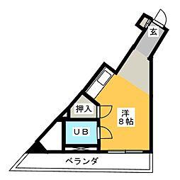 メゾン焼津[2階]の間取り
